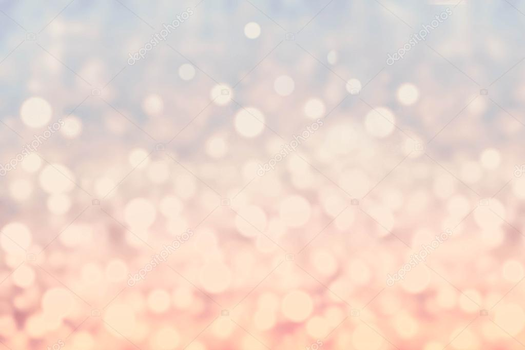Abstract twinkled bright background with bokeh defocused blur lights