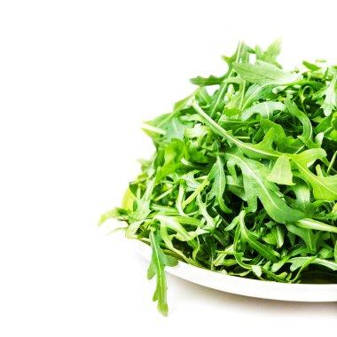 Arugula salad on a plate