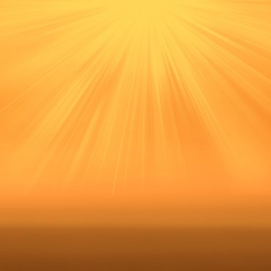 Sun on yellow  background with copy space.