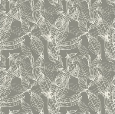Floral seamless pattern, background for textile design in vintage style. Wallpaper, background. A seamless leaf pattern.