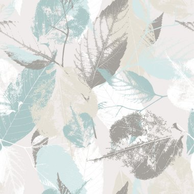 Abstract seamless pattern with leaves and flowers Background with flowers grunge texture clip art vector