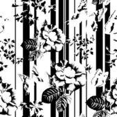 Fotografie květinový vzor bezešvé s motýly a růže v retro stylu
