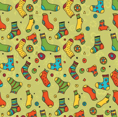 Seamless pattern with socks