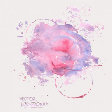Watercolor abstract background clip art vector