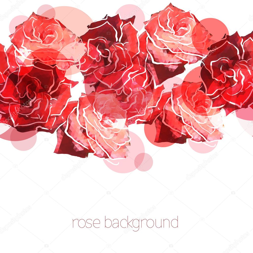 Rose background. Floral abstract pattern