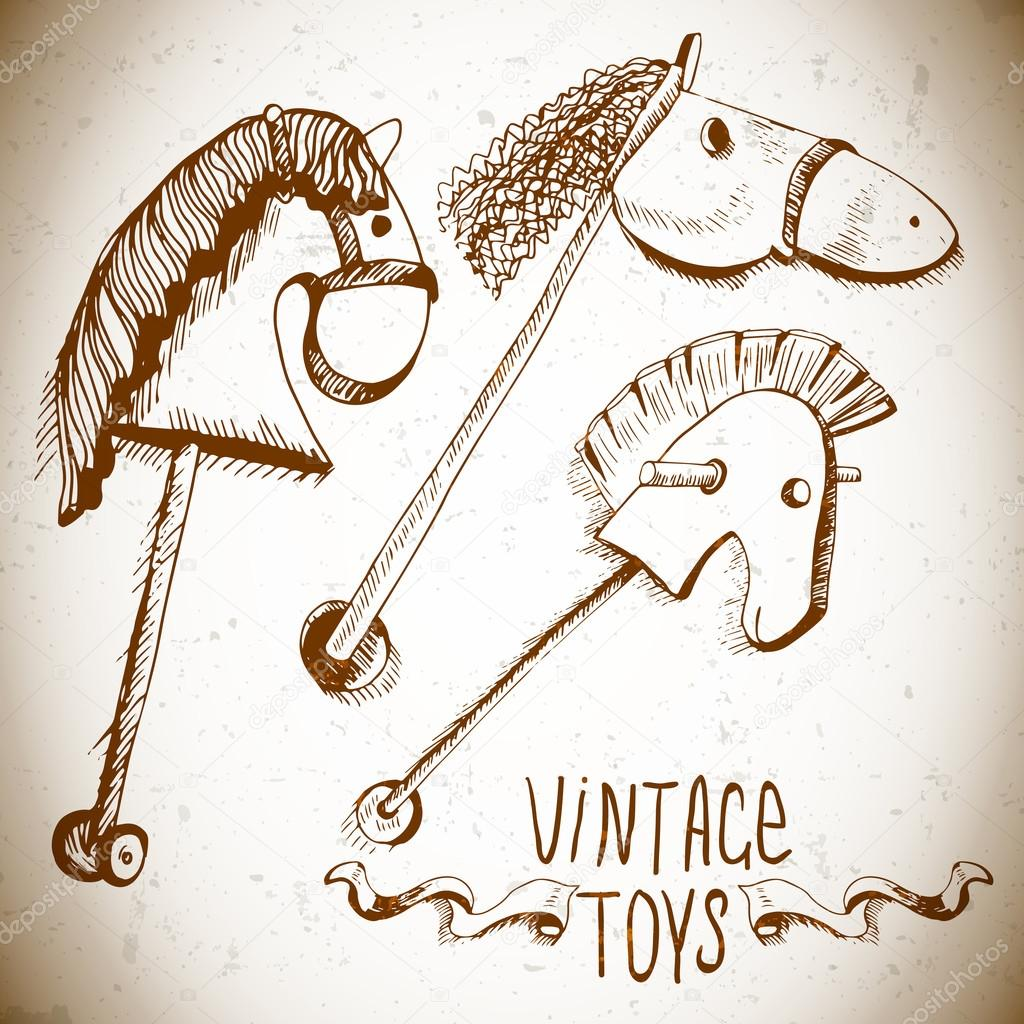 Vintage Rocking Horses For Sale Stock Illustrations And Vectors
