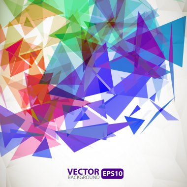 Abstract geometric background with explosion