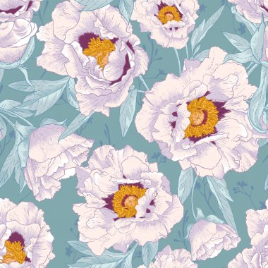 Beautiful tropical seamless flower background