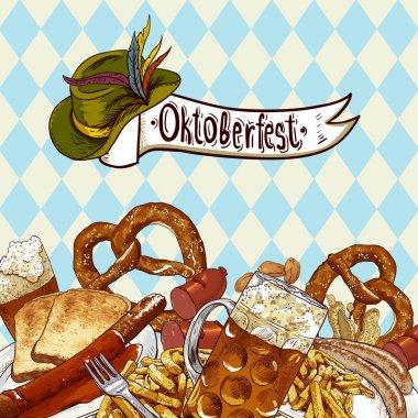 Oktoberfest celebration design with beer