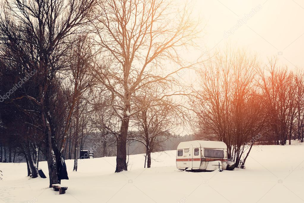 Winter caravan