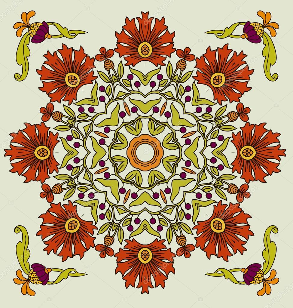 Vector art nouveau decorative flowers stock vector for Art nouveau decoration ameublement