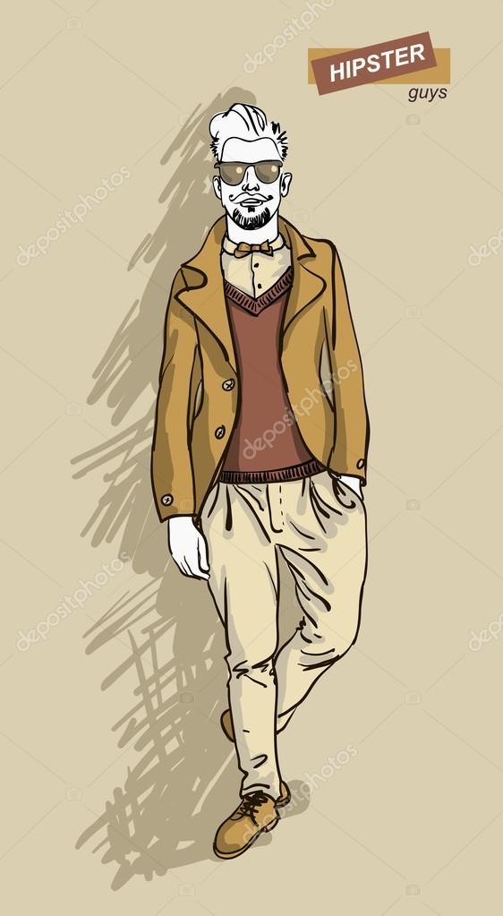 ragazzo elegante — Vettoriali Stock © mamziolzi  42138847 239a4793202