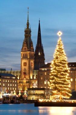 Hamburg, Germany, City hall at chrismass
