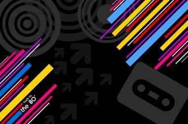 80s pop music background