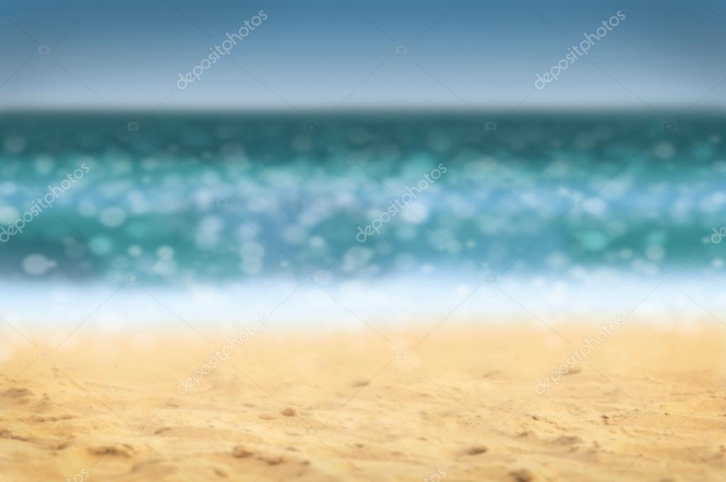 Defocused beach background