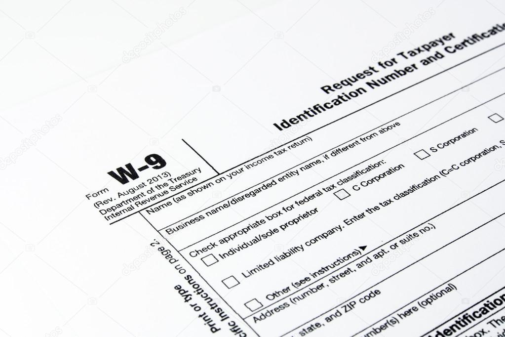 Tax Form W 9 And Pen Stock Photo Rakijung 49469175