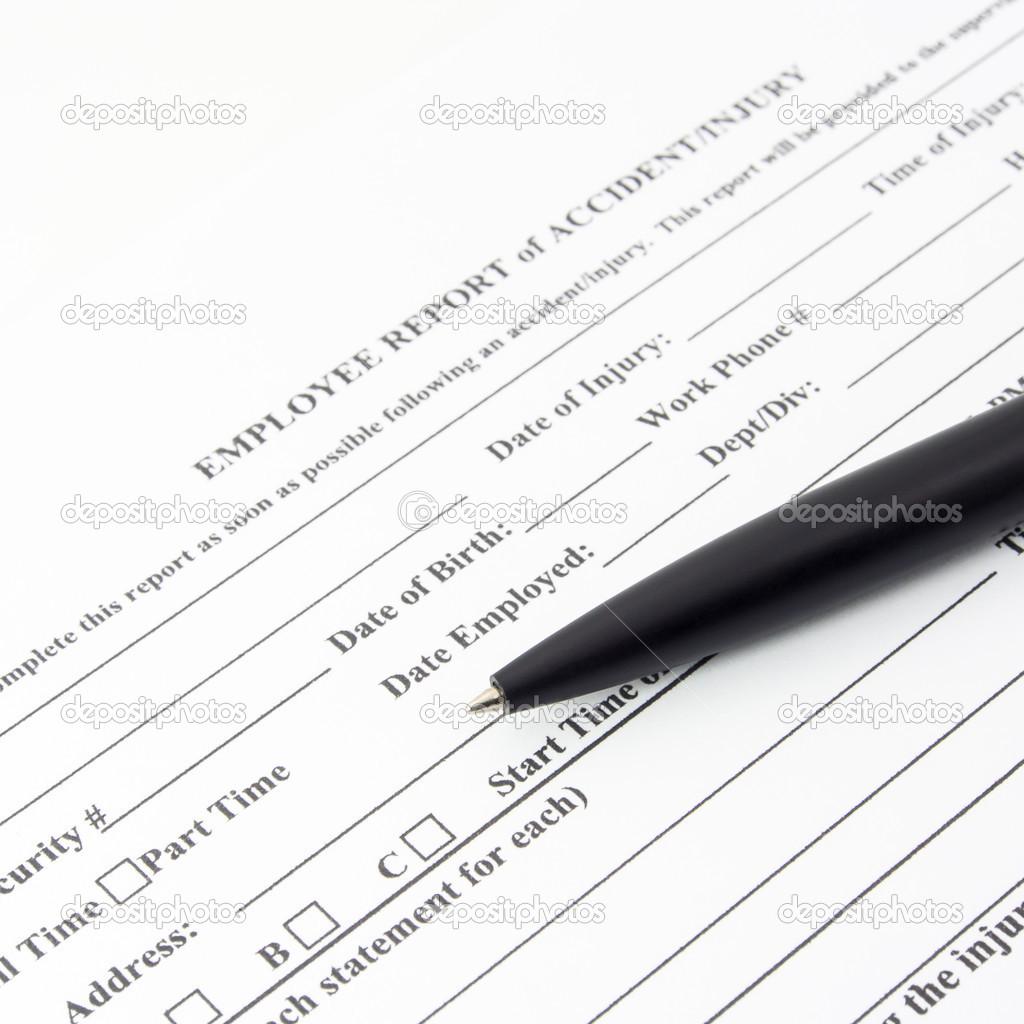 employee report accident form stock photo rakijung 49469247