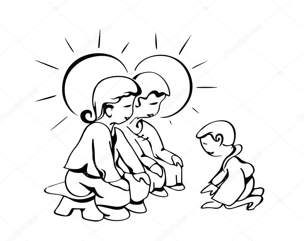 hijo de piedad agradecida — Archivo Imágenes Vectoriales ...
