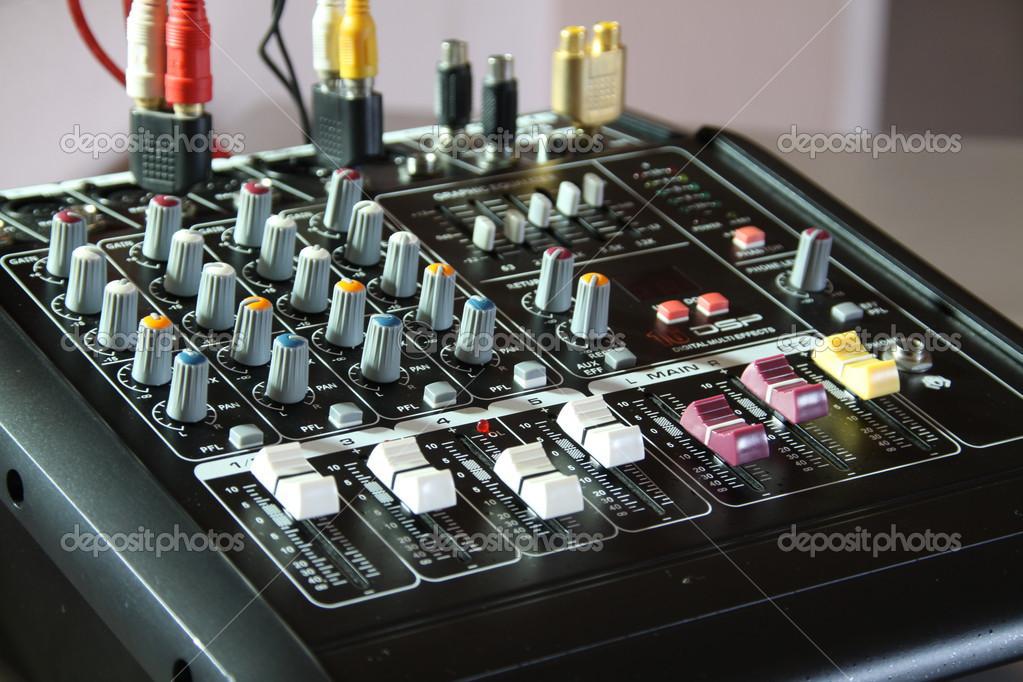 Mixer for broadcast — Stock Photo © chartcameraman #33544917