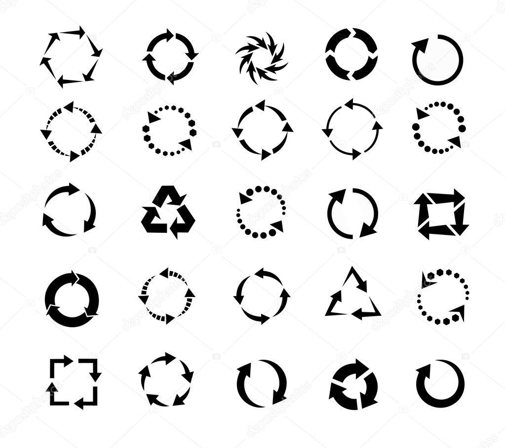 circle arrows, refresh, reload icon set