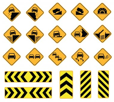 Road signs warning