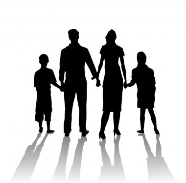 Silhouette family shadow