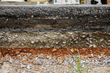 asphalt layer road