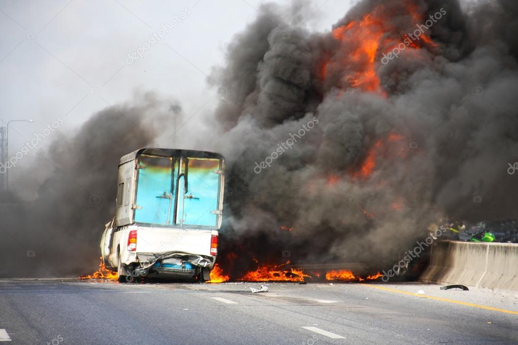 explosive car crash — Stock Photo © chartcameraman #41106533