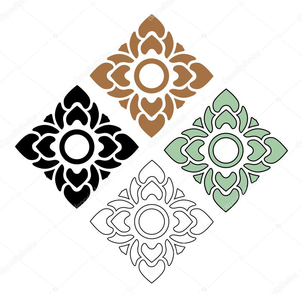 Thai pattern art