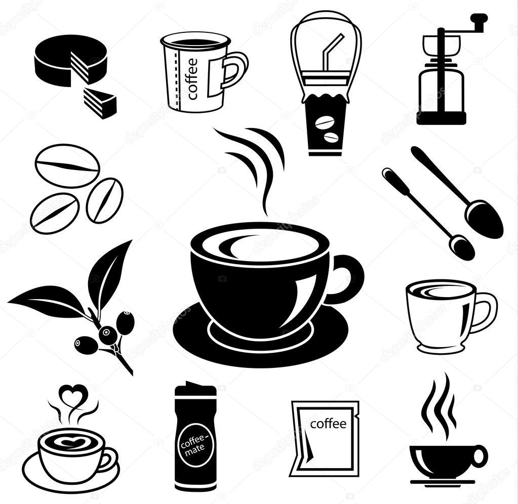 Kaffee Icon Set 03 Stockvektor C Chartcameraman 51415007