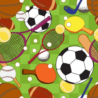 Pattern with sport balls