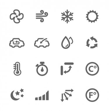 Simple set of air conditioning related vector icons for your design. stock vector