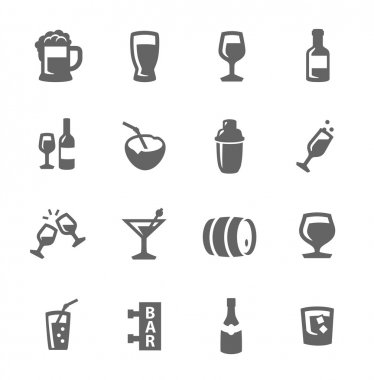 Alcoholic beverages icons
