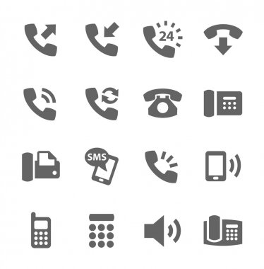Simple set of phones related vector icons for your site or application. stock vector