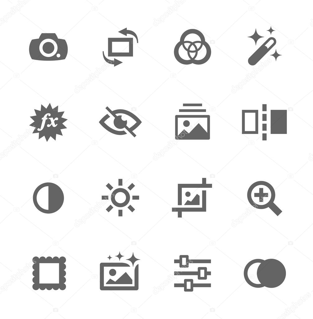 Image Editing Icons