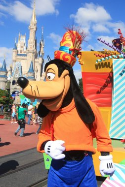 Goofy in Disney World Magic Kingdom