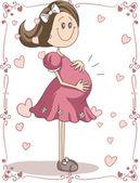 Fotografie Pregnancy Cartoon