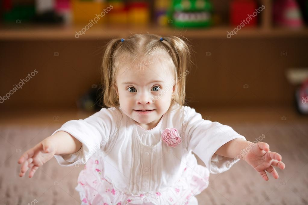 Emotions Down syndrome girl