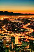 Fotografia città di notte
