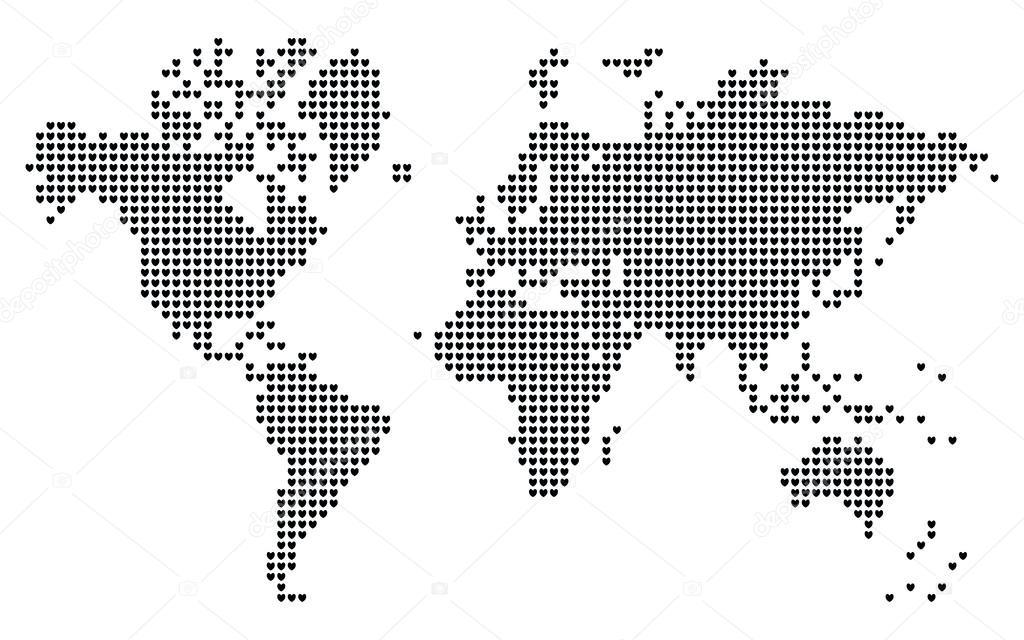 Corazn en forma de mapa del mundo pixel archivo imgenes corazn en forma de mapa del mundo pixel vector de aquasip gumiabroncs Image collections