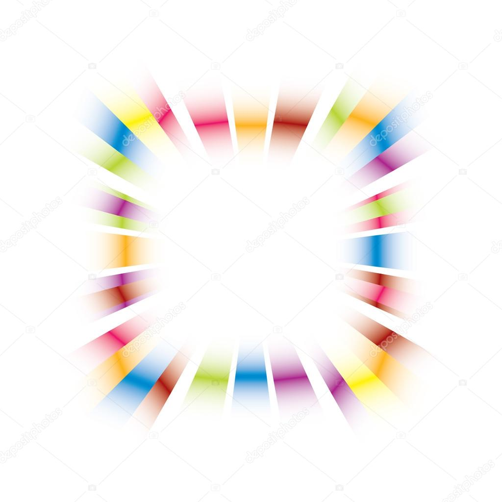 vector de marco de explosión del arco iris — Vector de stock ...