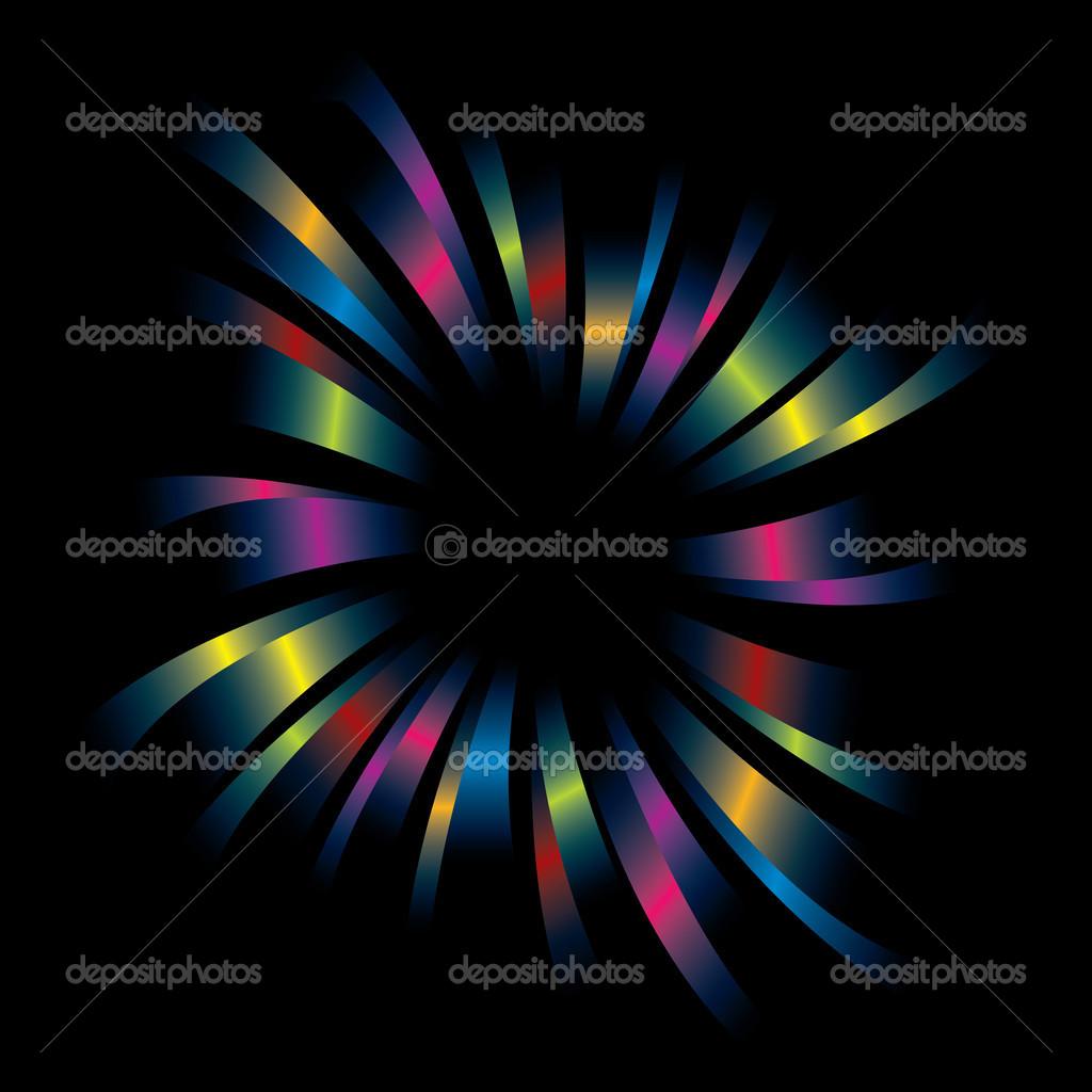 vector de marco de explosión del arco iris — Archivo Imágenes ...