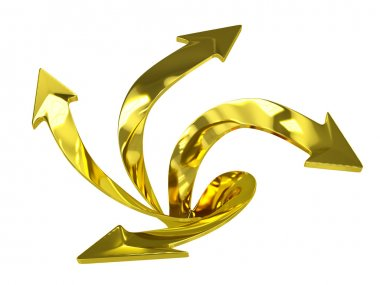 3D Golden Arrows