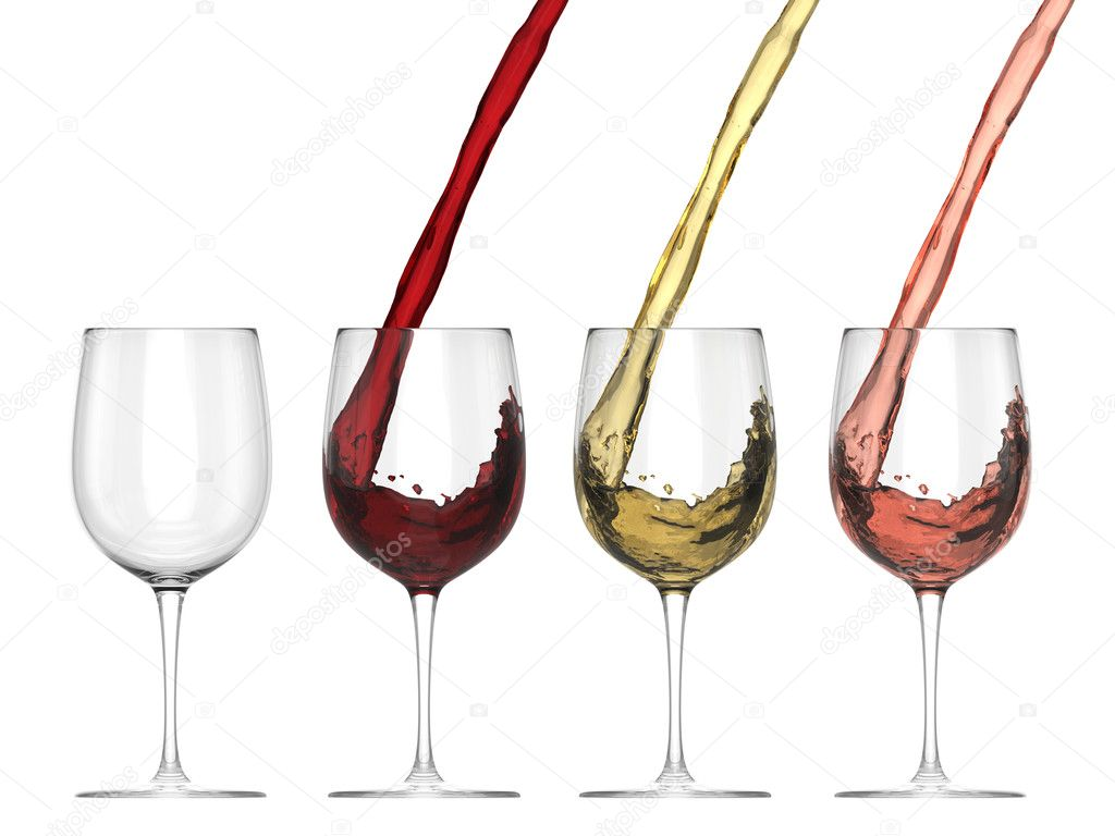 Wine Pouring Into Glass - Set — Stock Photo © Mathier ...