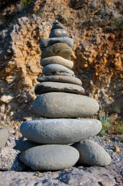 Rocks Stacked one on top of another