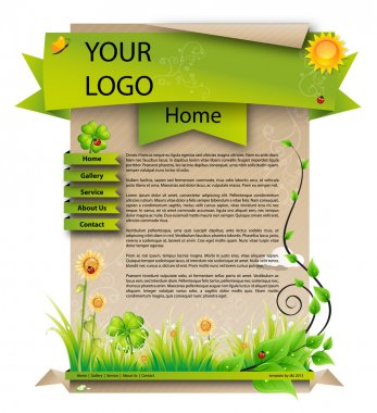 Spring green web template