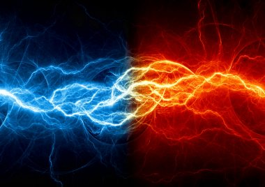 Fire and ice fractal lightning