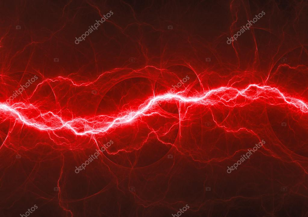 Red fantasy lightning