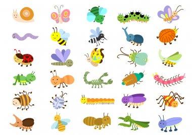 Insect. EPS8 File - no Gradients, no Effects, no mesh, no Transparencies stock vector