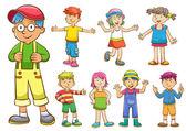 sada kreslené děti